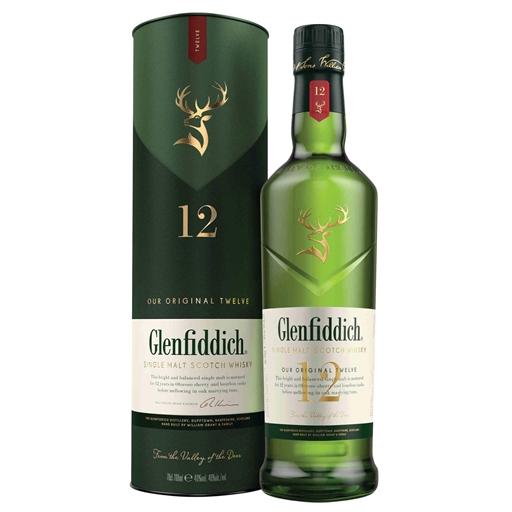 Whisky Malte 12 Anos Glenfiddich (garrafa 70 cl)