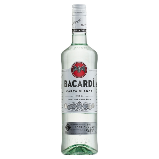 Rum Carta Blanca Bacardi (garrafa 70 cl)