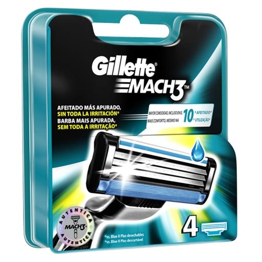 Carregador Mach3 Gillette (4 un)