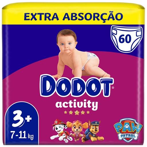 Fraldas Activity Extra Tamanho 3 7-11 kg Dodot (60 un)