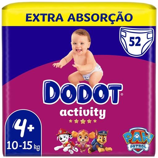 Fraldas Activity Extra Tamanho 4 10-15 kg Dodot (52 un)