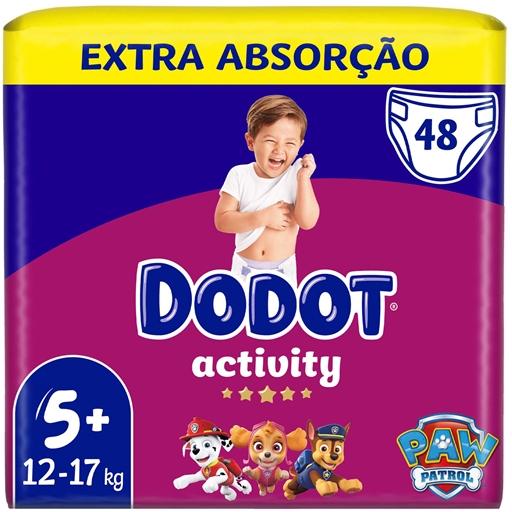Fraldas Activity Extra Tamanho 5 12-17 kg Dodot (48 un)