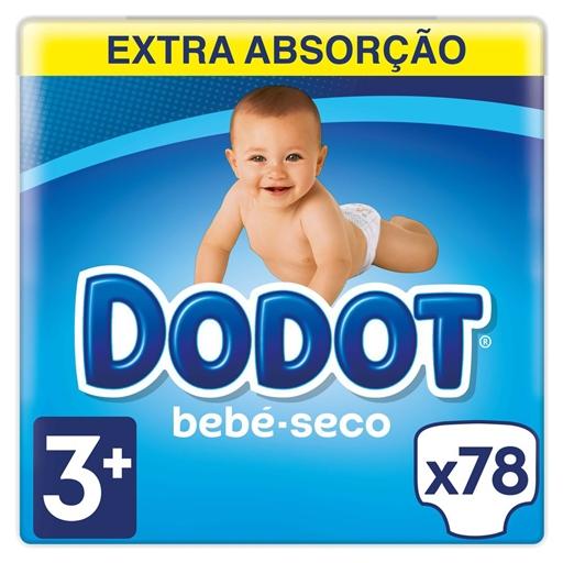 Fraldas Bebé Seco Tamanho 3 7 -11 kg Dodot (78 un)