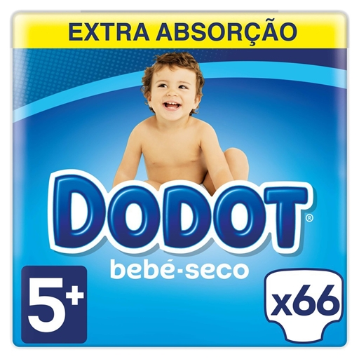 Fraldas Bebé Seco Tamanho 5 12 - 17 kg Dodot (66 un)