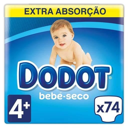 Fraldas Bebé Seco Tamanho 4 10 - 15 kg Dodot (74 un)