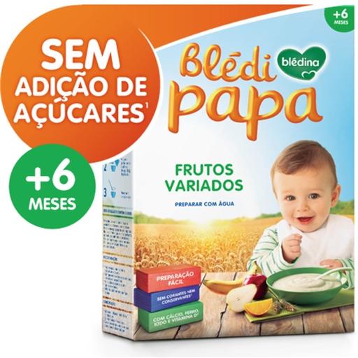 Farinha Láctea Blédipapa Frutos Variados 6 Meses Blédina (emb. 250 gr)