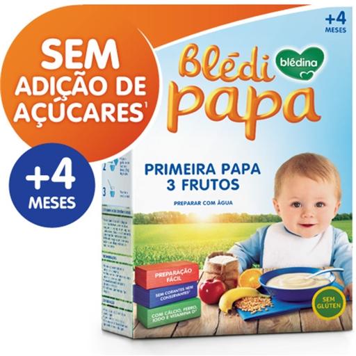 Farinha Láctea Blédipapa 1ª Papa 3 Frutos 4 Meses Blédina (emb. 250 gr)