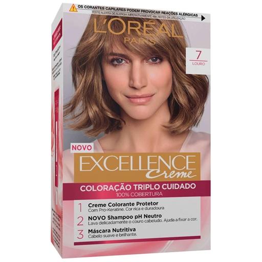 Coloração Permanente Excellence Creme Louro 7