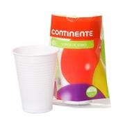 Conjunto 10 Copos de Sumo Plástico Branco 22 cl