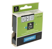 Fita para Etiquetar D1 Preto-Transparente 12mmx7m