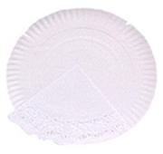 Prato de Papel para Bolos 28 cm com Naperon