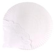 Prato de Papel para Bolos 32 cm com Naperon