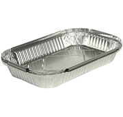Forma de Alumínio com Tampa para Espetadas / Carnes / Peixes Cozinhados