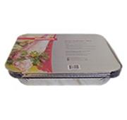 Forma de Alumínio com Tampa para Peixes e Carnes Cozinhadas / Catering