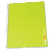Caderno Espiral A4 Pautado Verde Ácido