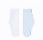 Conjunto 2 Calças Interiores em Algodão Azul / Branco