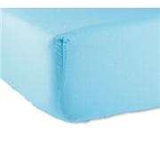 Lençol Liso Ajustável Azul Turquesa 140x190 cm 100% Algodão Kasa