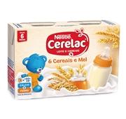 Leite e Cereais 8 Cereais e Mel +6 Meses