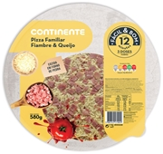 Pizza Familiar Queijo e Fiambre
