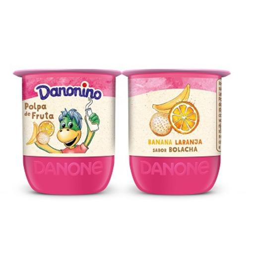 Iogurte Polpa Banana, Laranja e Bolacha