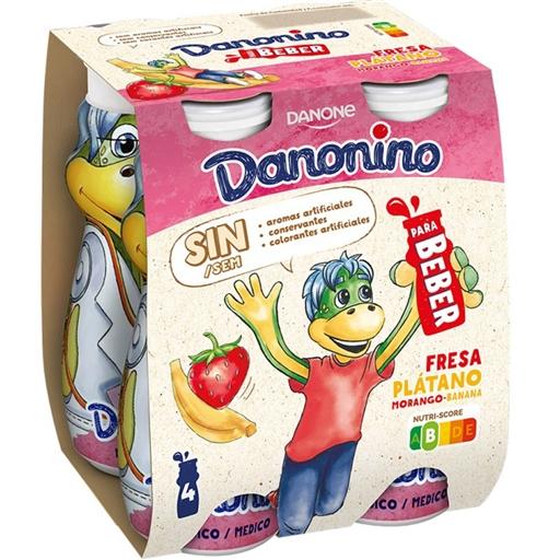 Iogurte Líquido Morango e Banana