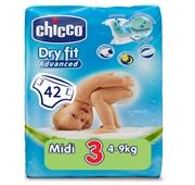 Fraldas Bebé Dry Fit Tamanho 3 4-10 kg