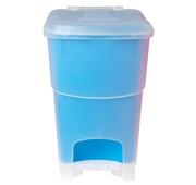 Balde Lixo Pedal Ref. Azul Cap. 20 cl
