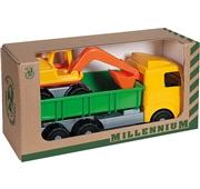 Camião com Escavadora