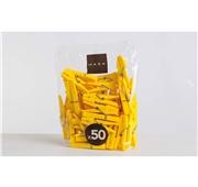 Molas Conjunto 50 unidades Amarelo