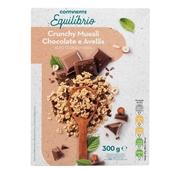 Cereais Muesli Crunchy com Stevia Chocolate e Avelãs