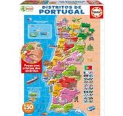 Puzzle 150 Peças Mapa Distritos Portugal