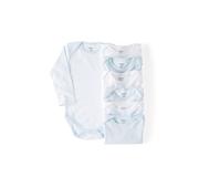 Conjunto de 7 Bodies Interiores Branco/Azul
