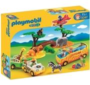 Playmobil 1.2.3 - Animais da Savana com Guarda e Turistas - 5047