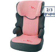 Cadeira Auto Grupo 2/3 Izzygo Plus Riscas Rosa