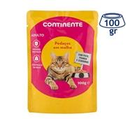 Comida Húmida para Gato Frango/Pato em saqueta