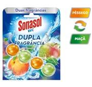 Bloco Sanitário Dupla Frangância Pêssego&Maçã
