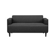 Sofá com Braços Retangular Cinza Escuro
