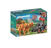 Playmobil The Explorers - Carro com Triceratops - 9434