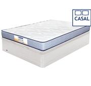 Pack Dafne Colchão + Base Branco Casal 190 x 140 cm