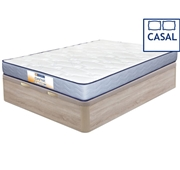 Pack Dafne Colchão + Base Bege Casal 190 x 140 cm