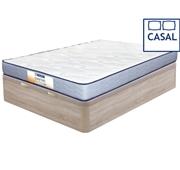 Pack Dafne Colchão + Base Bege Casal 200 x 160 cm