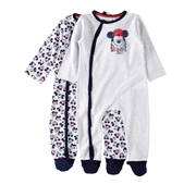 Conjunto 2 Babygrows Mickey 12/18 Meses