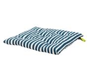 Coxim Cadeira 40 x 3.5 x 40 cm Riscas Azul Water