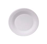 Conjunto 50 Pratos Sobremesa Papel Branco