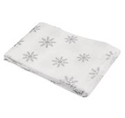 Toalha de Mesa Impermeável 132x178cm Cinza Snow