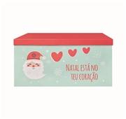 Caixa Decorativa Cartão XL Natal Está no Teu Coração