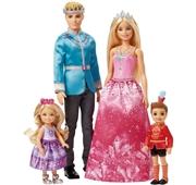 Pack 4 Bonecas Barbie Dreamtopia Gift