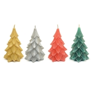 Vela Decorativa Árvore Natal com Glitter Sortida